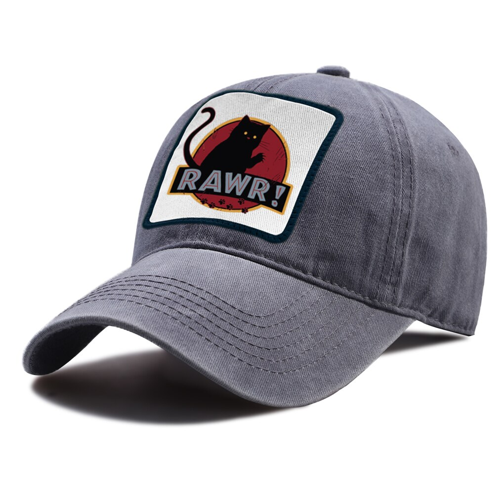 Gorra de Golf con estampado de gato Monster Rawr, gorra Snapback de algodón transpirable, sombreros Unisex de conducción al aire libre, gorra de béisbol con protección solar de alta calidad