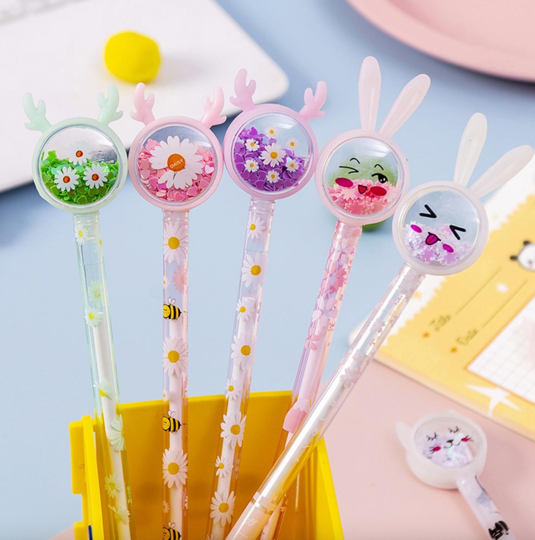 AliExpress - Cute Gel Pen Kawaii 0.5mm Rabbit Novelty Cartoon Black Ink Learning Pen For Kids Promotional Gifts School Office Stationery
