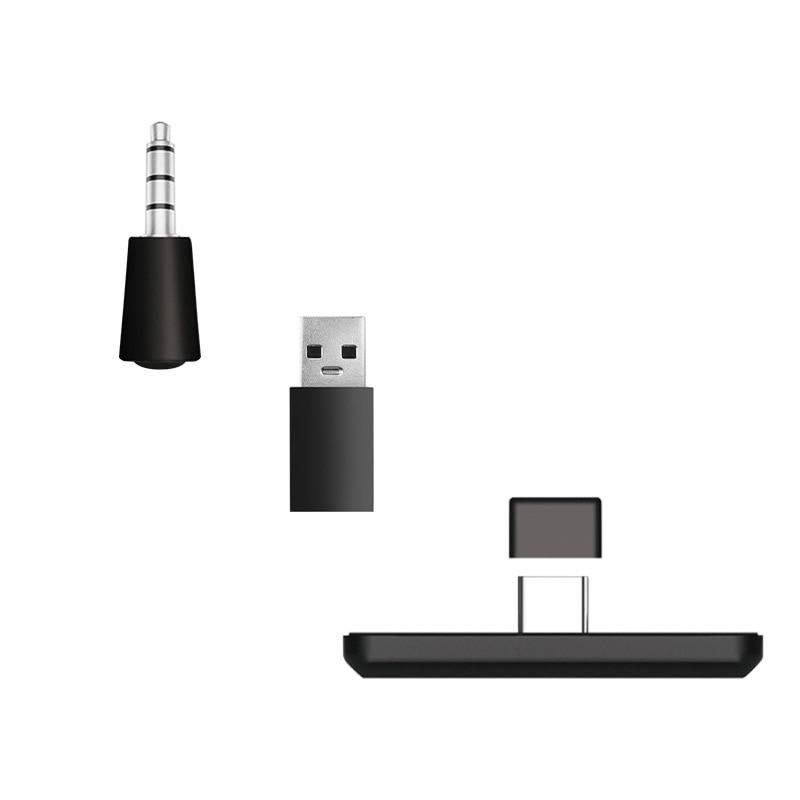 Transmissor de áudio sem fio bluetooth adaptador receptor 3.5mm plug usb transmissor typec para nintendo switch ps4 pc receptor de áudio