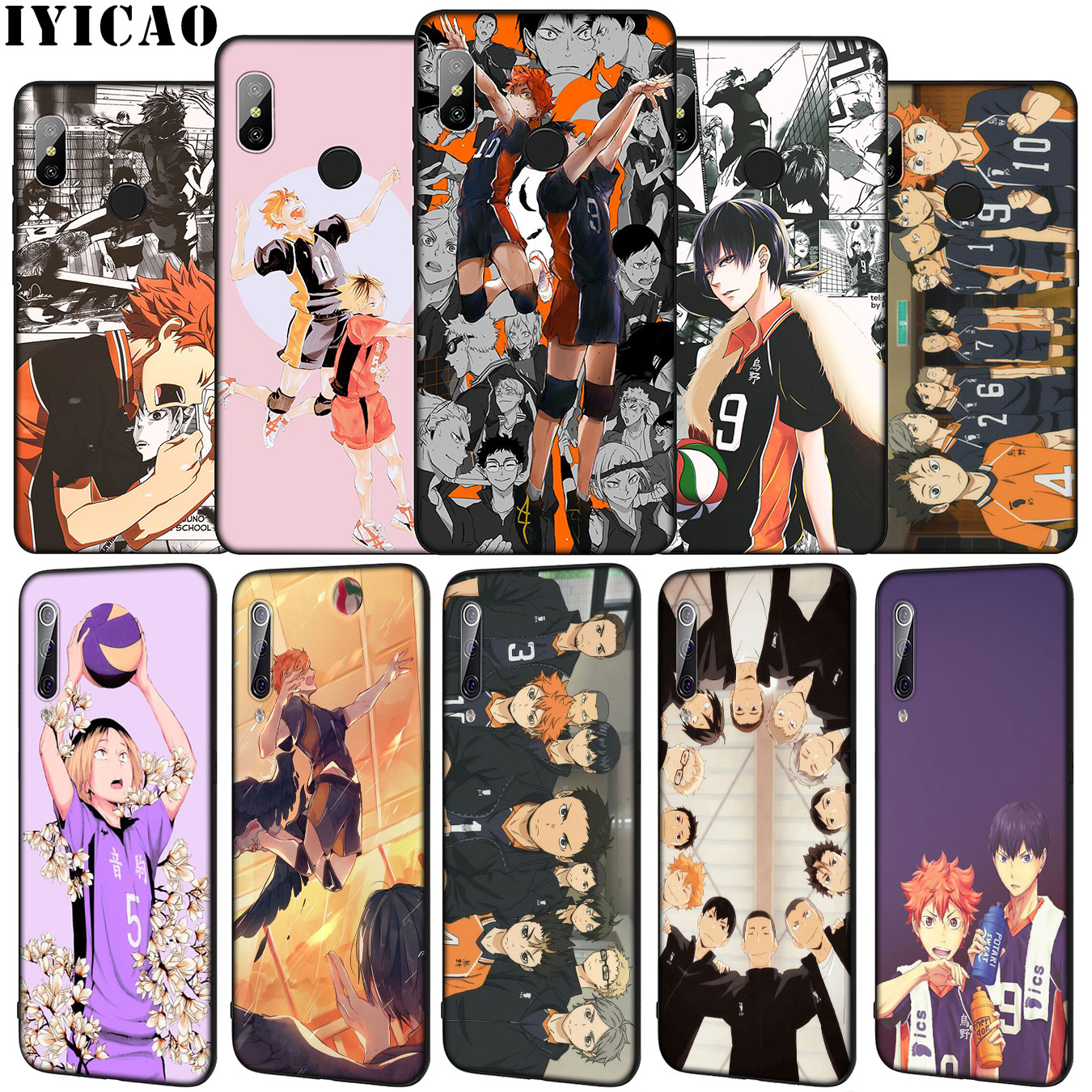 IYICAO Haikyuu Hinata Soft Silicone Phone Case for Xiaomi Mi 10 9 9T A3 Pro 8 SE A2 Lite A1 CC9 CC9E 6 pocophone f1 Mi10 Cover