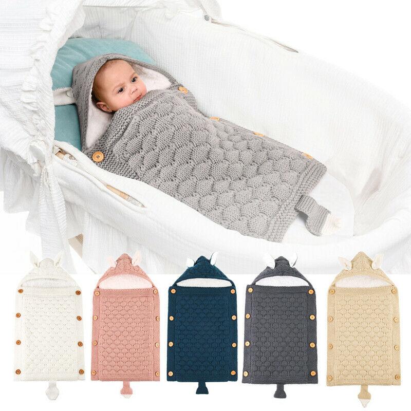 Newborn Baby Boy Girl Infant Swaddle Wrap Swaddling Blanket Sleeping Bag Soft