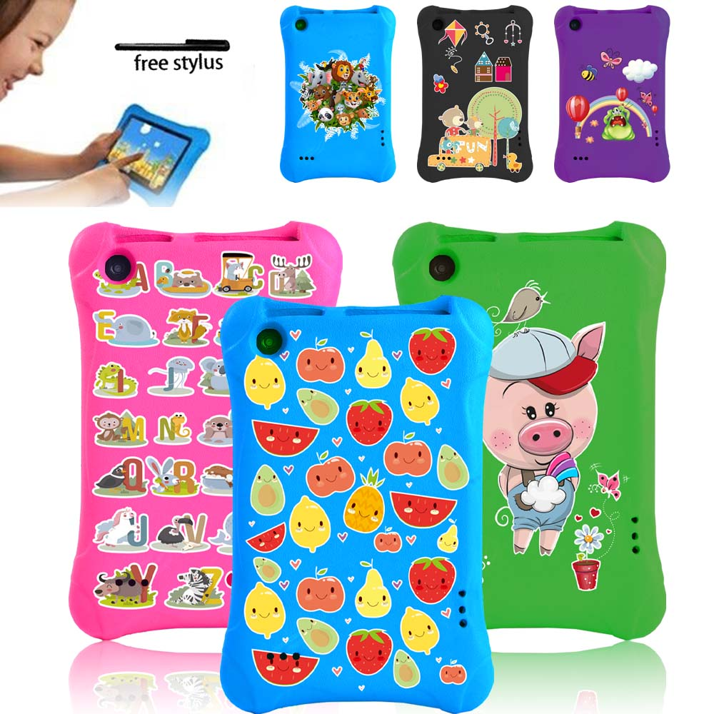 Tablet Case for Amazon Fire 7 5th/7th/9th Gen Tablet -Kids Safe Shockproof Cover Case EVA Foam Multicolor Cartoon Pattern Series