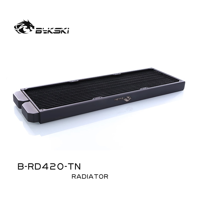 Bykski 28mm Thin Radiator Copper 140/280/420,1 Layer 16 Waterways/ 14 FPI/ 140mm Fan Computer Water Cooling Liquild Cooler Row