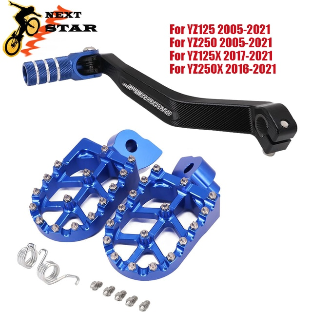 دراجة نارية CNC Footpeg أوتاد شيفتر لياماها YZ85 YZ125 YZ250 125X YZ250F YZF WRF 250 450 YZF250 WRF250 WR450F 2005-2020 2021
