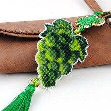 Ddecoration voiture porte-clés accessoires estampillé artisanat bricolage imprimé croix-couture-Kit broderie Stich-perle couture 078