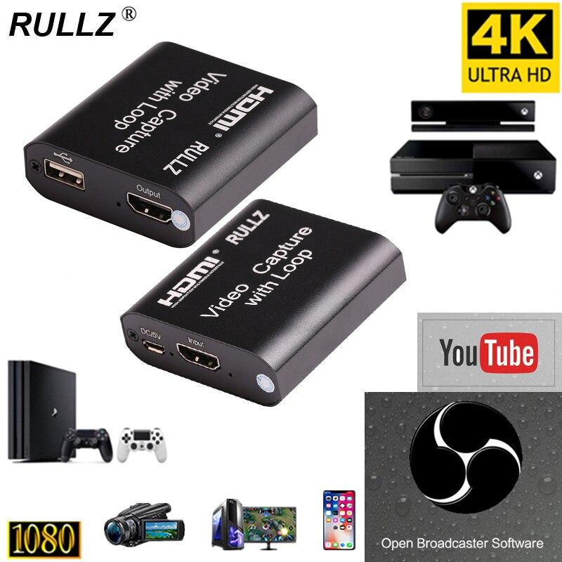 1080P 4K HDMI устройство видеозахвата HDMI к USB 2,0 Карта видеозахвата ключ игровая запись потоковая трансляция в прямом эфире локальная петля