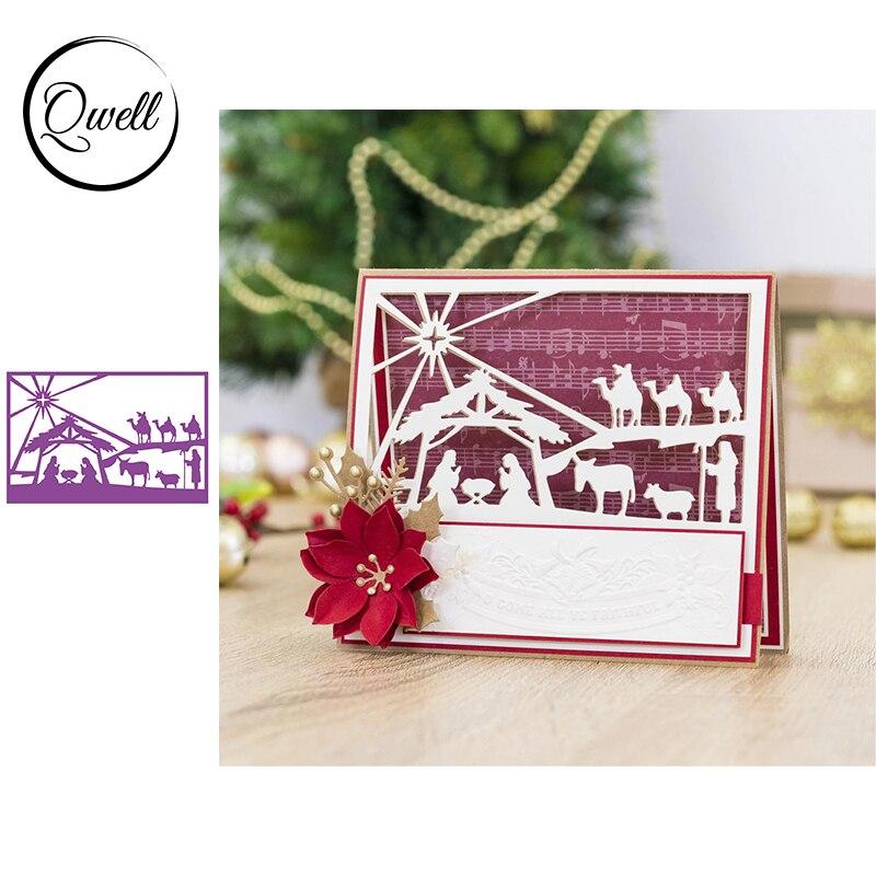 Qwell cabra Animal Camel Cottage marco Metal corte Dies artesanías de álbum de recortes para bricolaje decoración para papel y tarjetas álbum 2020 nuevo