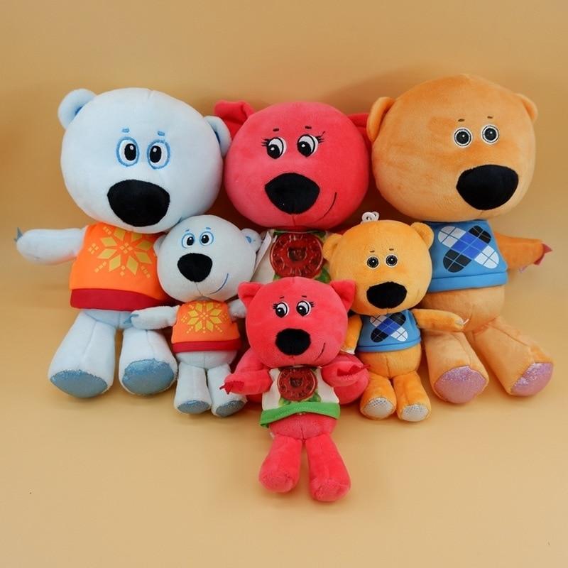 3 unids/set de juguete de alta calidad dibujo de osito de felpa juguetes de peluche MiMi oso de peluche muñeco de oso regalo de cumpleaños para niños
