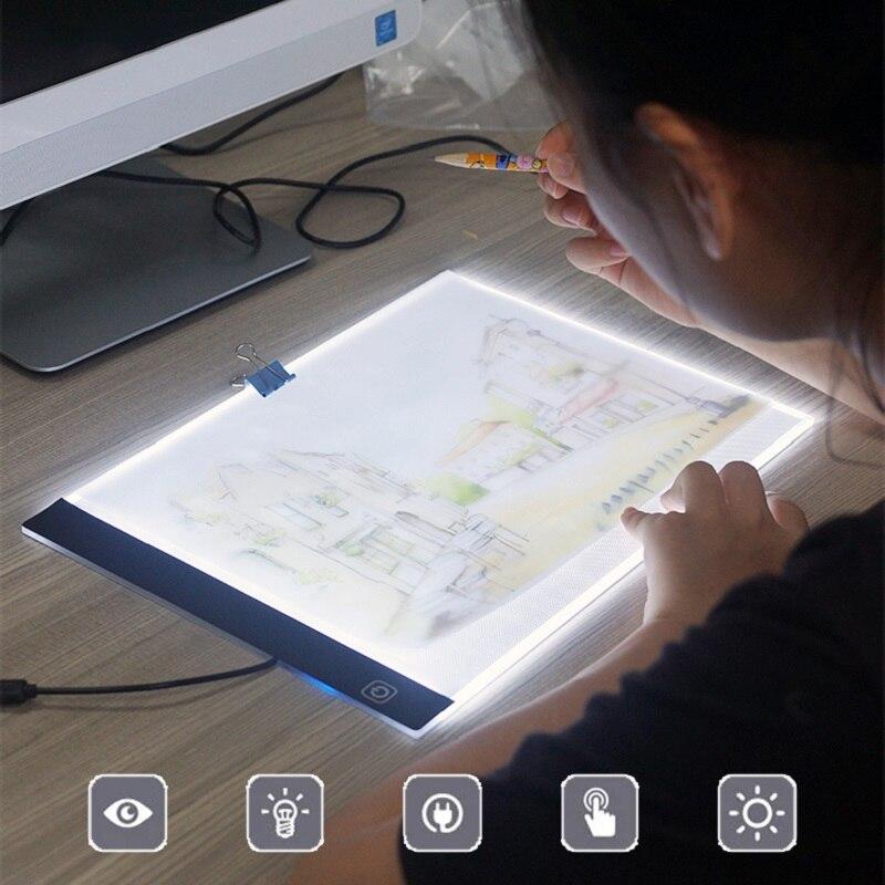 Tablas de dibujo LED A4/A5 placas de copia de tablero de seguimiento A4 LED dibujo tableta placa arte escritura mesa de luz caja