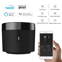 Broadlink     telecommande intelligente RM4 Pro Rm4 Mini HTS2  domotique  WiFi IR RF  universelle  compatible avec Alexa Google Home