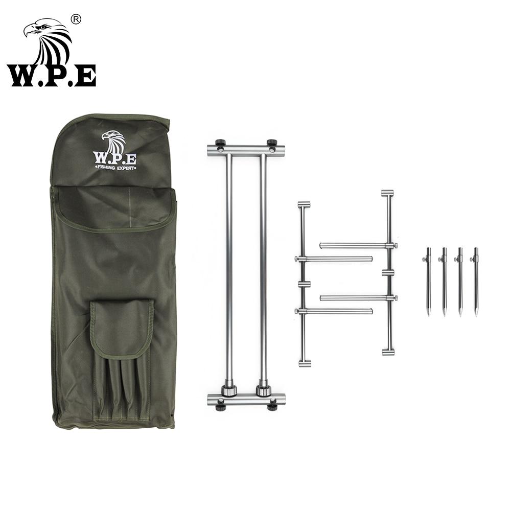W.P.E fishing rod bracket Carp fishing rod rack Fishing tackle Aluminum alloy body Adjustable telescopic foldingfishin g gear enlarge