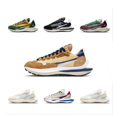 Man Sacai LDV waffle running shoes for men women black white gray pine green Gusto varsity blue men
