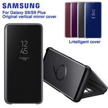 SAMSUNG Original Mirro couverture claire vue téléphone étui pour SAMSUNG GALAXY S9 G9600 S9 + S9 Plus G9650 authentique Rouse mince étui à rabat