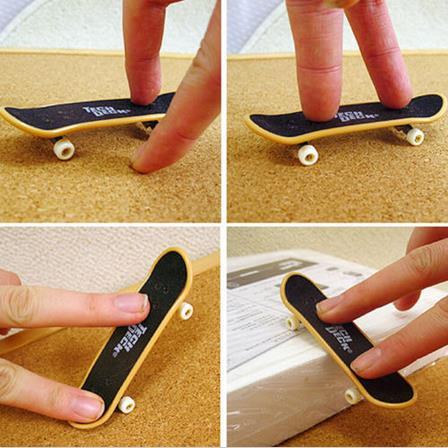 1 Pza niños Mini Finger Board Skate Board juguetes niños regalos fiesta Favor juguete