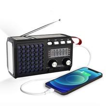 2021 новейшаябатарея радио Перезаряжаемые Портативный FM AM SW1 4 радио с Bluetooth Динамик usb диск или tf карту MP3 музыкальный плеер