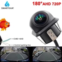 smartour 180%c2%b0 fisheye 720p hd ahd ccd vehicle night vision rear view reverse parking black car camera for android dvd monitor