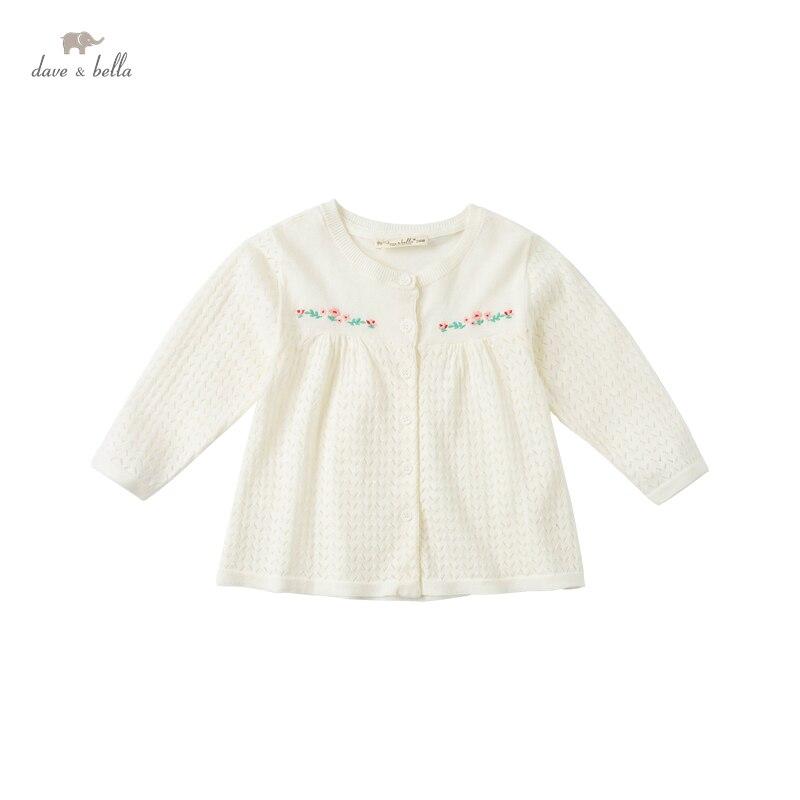 DBM17524 нижнее белье в стиле бренда dave bella/летнее платье комбинезон для маленьких девочек, модная, с Цветочным Тиснением, кардиган для детей ясельного возраста, пальто для детей, милый вязаный свитер|Свитера| | АлиЭкспресс