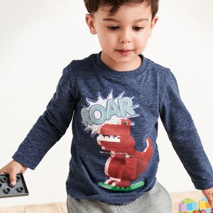 Children's T-shirt 2020 Spring Europe and America New Boys Long Sleeve Tops Cotton Round Neck Boys Long Sleeve T-shirts
