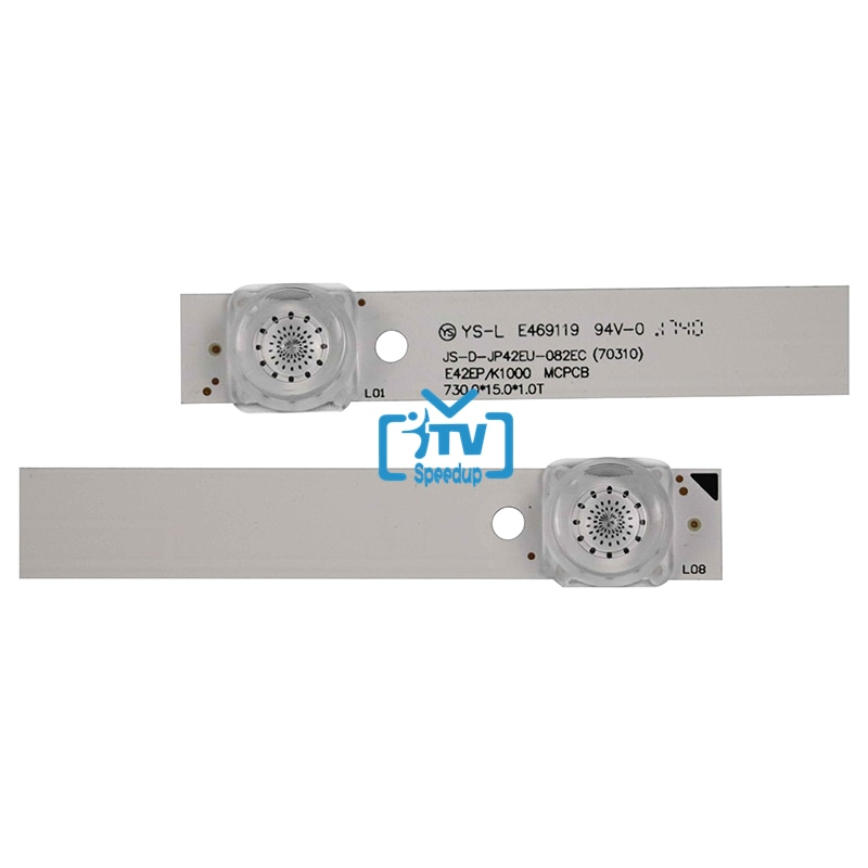 15PCS LED Backlight strip 8 lamp For Akai 42'' TV JS-D-JP42EU-082EC (70310) 6V/LED 730MM enlarge