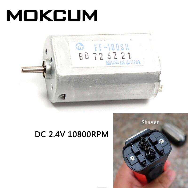 Motor eléctrico silencioso para afeitadora, FF-180SH, 2,4 V, 10800RPM, 0,05 W-5,6 W
