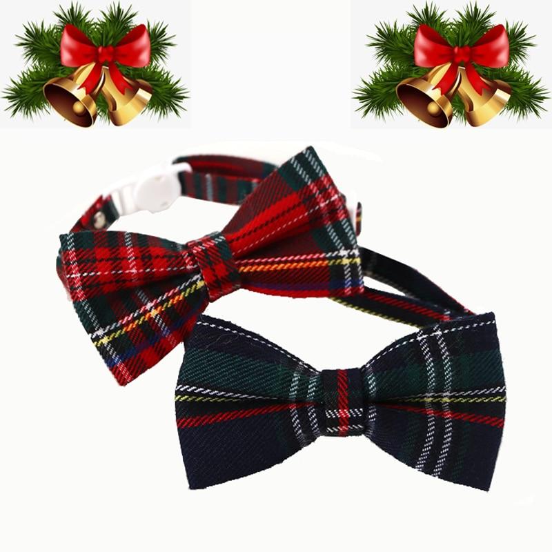 Navidad cosas Para Collar Para gatos con corbata de moño Collar de...