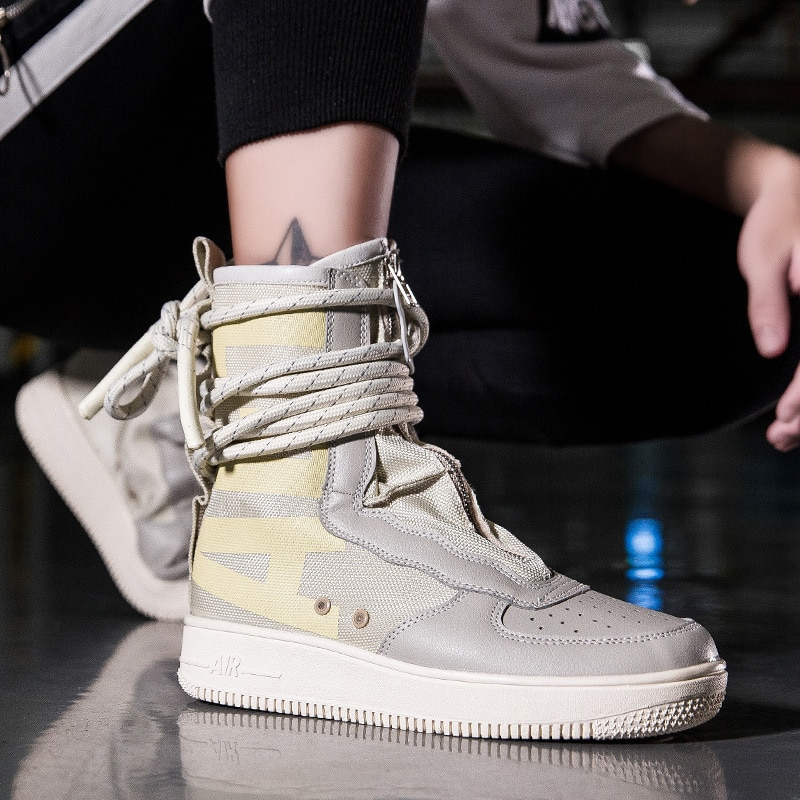 2021 Autumn and Winter New Couple High-top Casual Fashion Sneakers All-match Korean Trend Canvas Sho