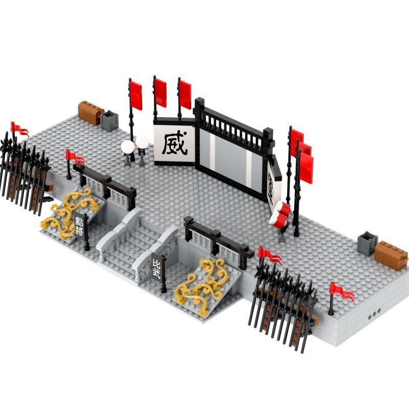 Конструктор Военная MOC фигурки солдаты средневековая древняя династия Цинь в Китае армия отправка сцена битвы детские игрушки
