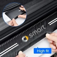 car threshold tailgate carbon fiber protective decorative inner threshold protective strip for smart 451 453 fortwo forfour