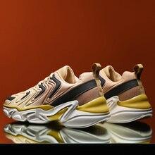 Mode Design hommes chaussures de course épaisse plate-forme semelle confortable baskets homme haute qualité marche chaussures grande taille 38-46