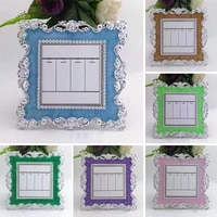 european creative silver rose lace switch sticker candy color resin decoration switch cover socket stickers double switch room