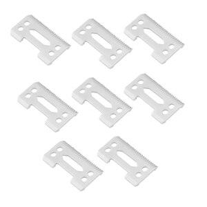 8 штук Керамика лезвие Керамика сменный резак, 28 зубчиков Керамика клипер лезвия сменный резак 2-отверстие машинка для стрижки