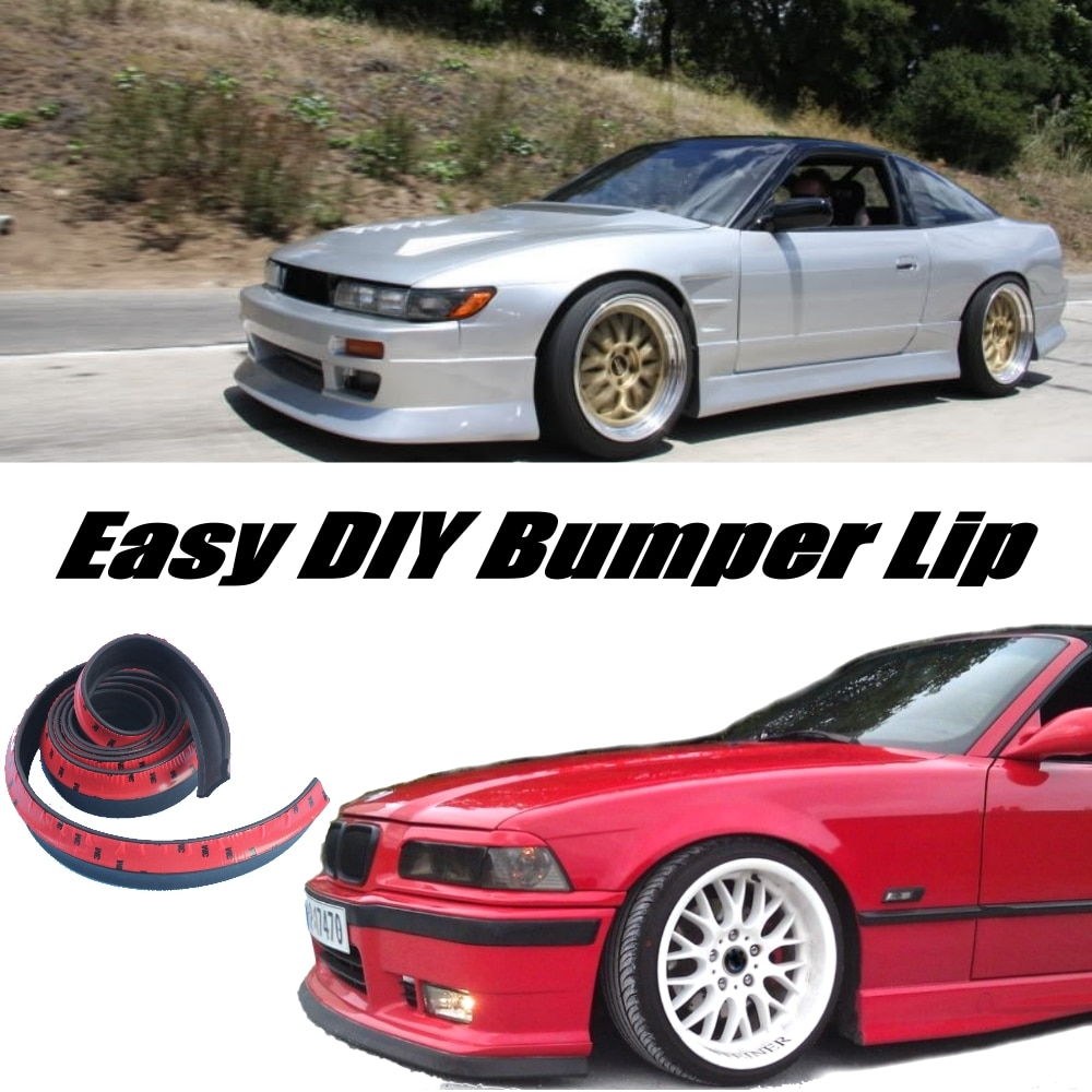 Бампер для губ дефлектор губы для Nissan Silvia S13 S14 S15 200SX 240SX передний спойлер юбка для настройки/комплект для тела полоса