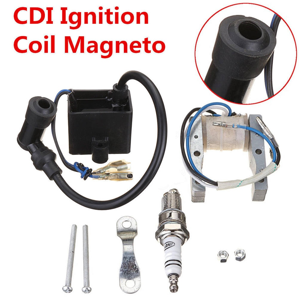 Статора Магнето катушки зажигания CDI 49cc 66cc 80cc 2 тактный двигатель моторизованный велосипед Запчасти Магнето катушка зажигания