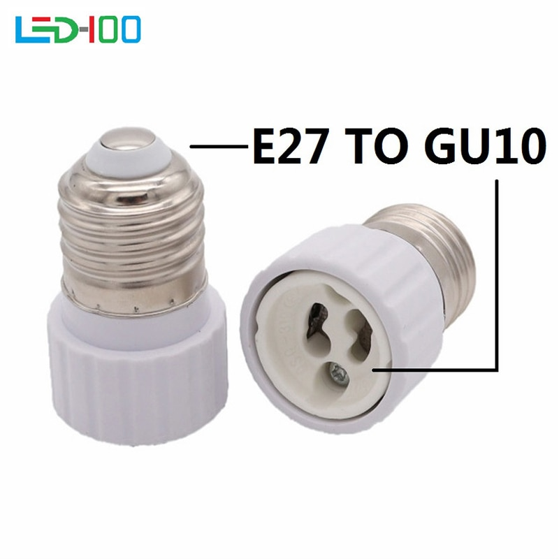 NEW Good quality E27 to GU10 Fireproof Material lamp Holder Converters Socket Adapter light Bulb Bas