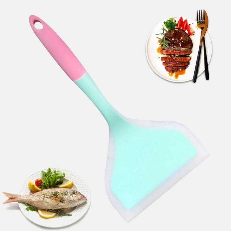 Espátula de silicona para carne de ternera, huevo, cocina, espátula para Pizza ancha, torneros antiadherentes, utensilios de cocina para el hogar, accesorios de cocina