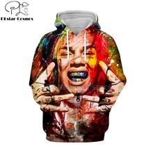 Novo rapper tekashi69 6ix9ine tekashi 69 impressão 3d hoodies moletom harajuku casual pullover com capuz jaqueta roupas-6