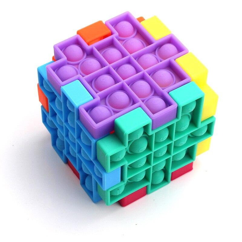 AliExpress - Fidget Relieve Stress Toys Pops Kit Cube Model Bubble Antistress Adult Children Sensory Silicone Puzzle Squeeze Children Gift