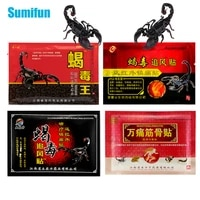 24pcs 4types scorpion venom medical plaster pain patch for joint back knee rheumatism arthritis pain relief balm stickers 3bags