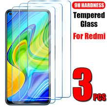 Закаленное стекло для Xiaomi Redmi Note 10 9 8 7 Pro 10 9 8 7 9S 10S 8T, стекло для экрана Redmi 9 8 7 9A 8A 7A 9i 9C, 3 шт.