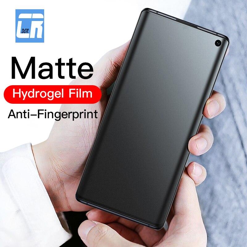100D No Fingerprint Matte Hydrogel Film for Samsung galaxy Note 10 20 9 8 S10 S9 S8 S20 S21 Plus Screen Protector Samsung s10e