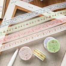 JIANWU 15mm * 3m mignon frais Washi papier ruban Kawaii Journal Collage masquage décoration matériel cadeau ruban demballage papeterie