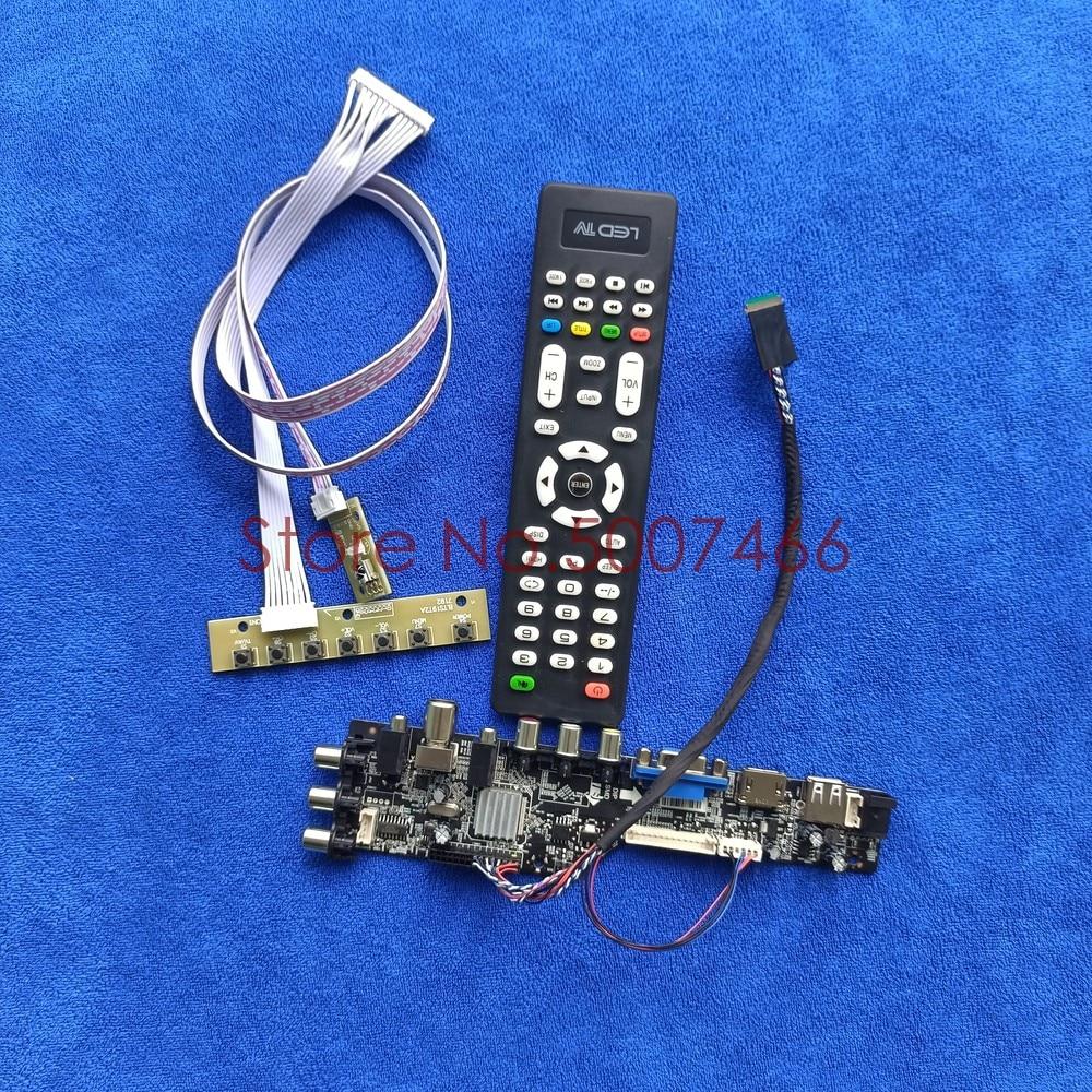 Fit M140NWR1 R0/R1 M140NWR2 R0/R1/R2 AV VGA USB DVB 1366*768 شاشة ترقية 3663 تلفاز رقمي 40 دبوس LVDS طقم لوحة محرك LCD