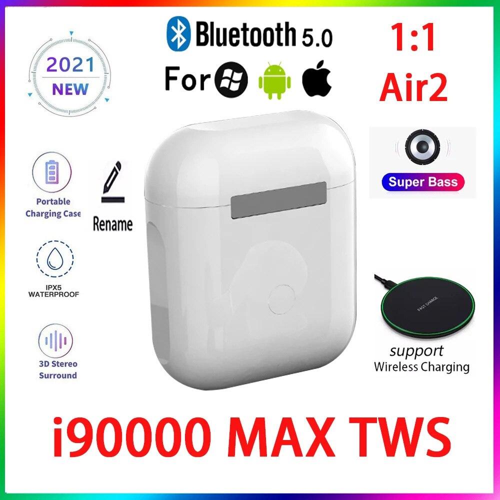 Original i90000 MAX TWS 1:1 GPS nombre auriculares Bluetooth inalámbricos PKi7 i11...