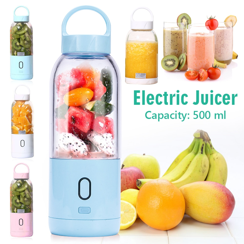 Mini  Portable Electric Juicer Cup Household student multifunctional juicer cup Lovely Rabbit Portable USB Rechargeable