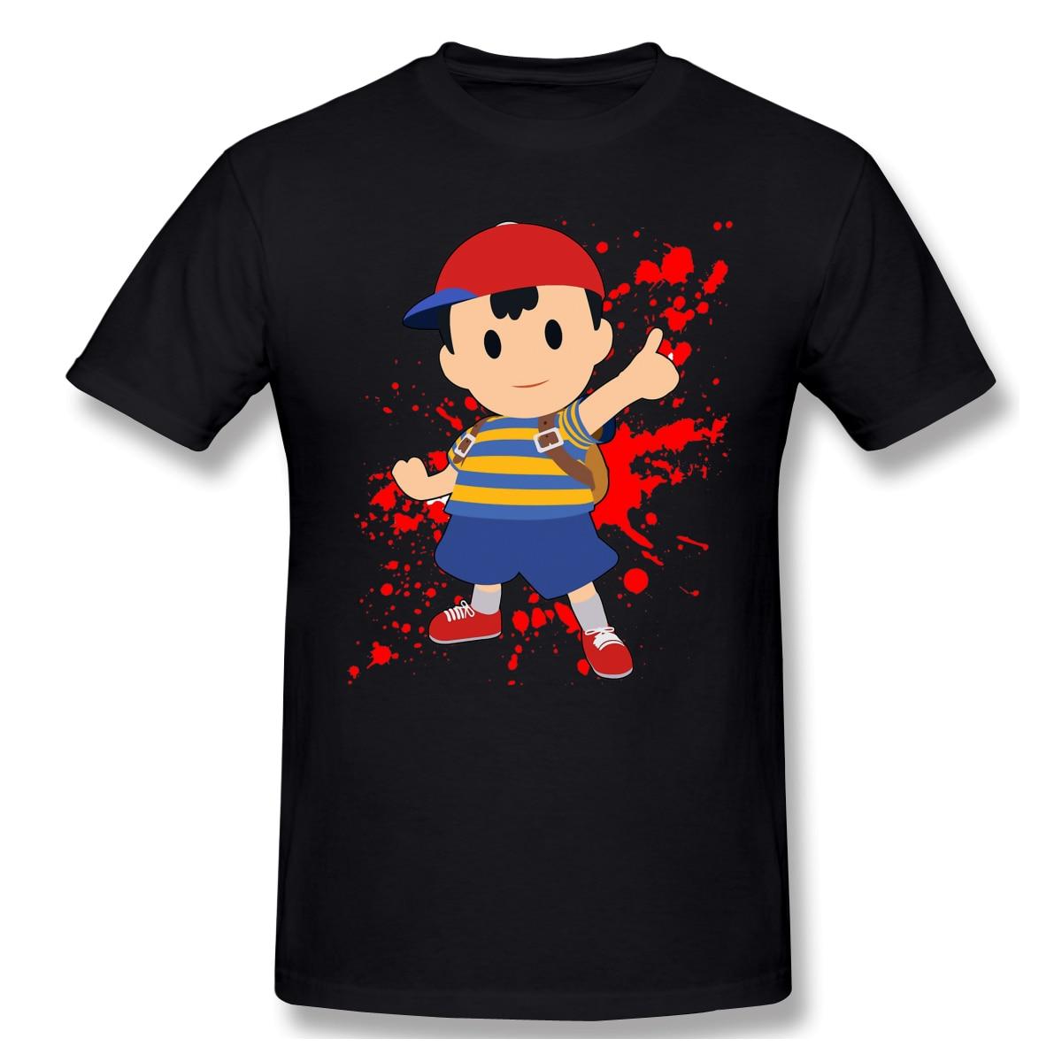 Ness - Super Smash BrosT-Shirt Men Top Quality 100% Cotton Short Summer Sleeve legend of zelda Casual Tshirt Loose