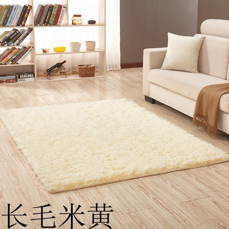 2020 Soft Long Plush 3.5 CM Solid Carpet Square Rectangle Anti-slip Carpets for Living Room Bedroom Doormat Yoga Mats Beige New