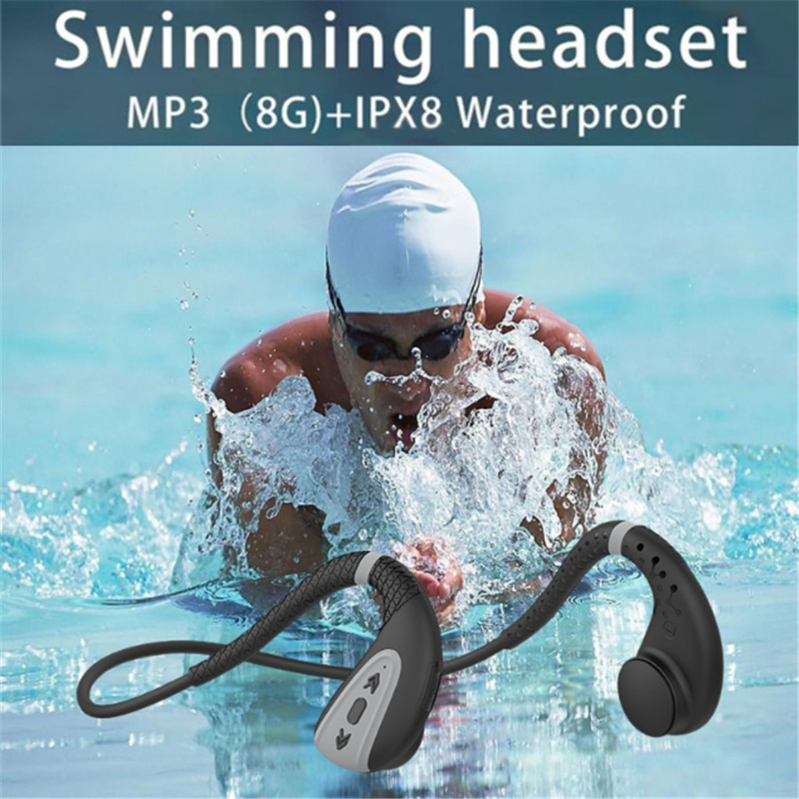 Bluetooth Ear Phone MP3 Underwater Stereo Sound Sport Headset Waterproof IPX8 Headphone for Swimming