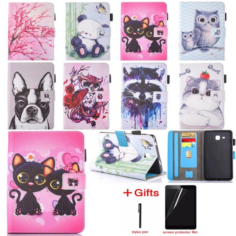 Fashion Cat Unicorn Owl 2016 Tab 7.0 Case For Samsung Galaxy Tab A 7.0 T280 T285 SM-T285 Case Cover Tablet Silicon Funda