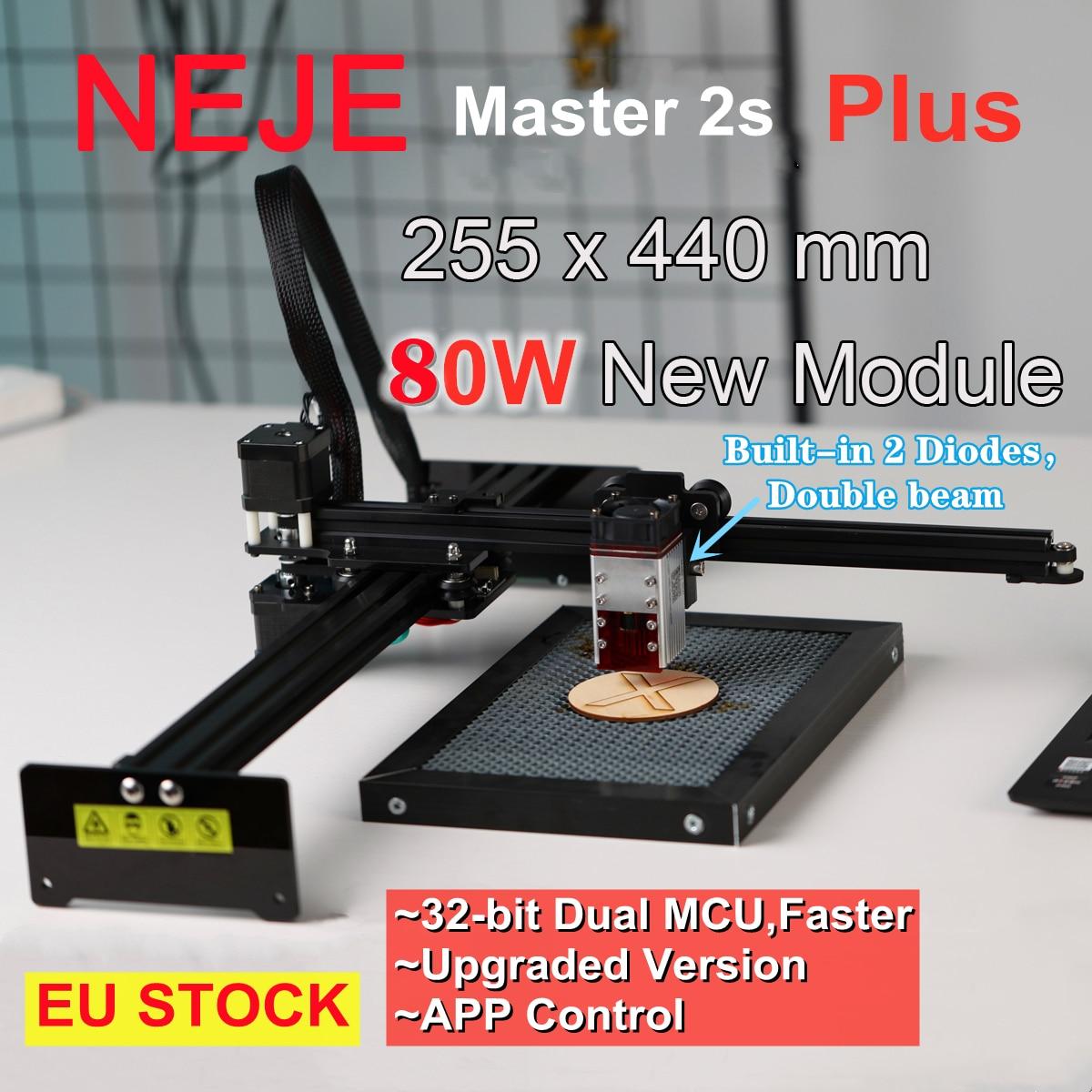 NEJE Master 2S Plus 80W CNC Router Laser Cutter Engraver Engraving Machine Lightburn for Wood Leather Plywood MDF 3D Printer