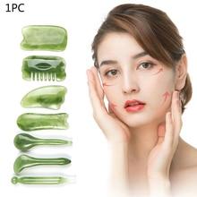 1 Pc Natural Resin Facial Multi- shape Mixed Massage Tool Gua Sha Board Eye Face Neck Care Body Spa